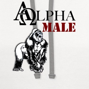 Alpha Male - Contrast Hoodie
