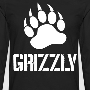 Grizzly Paw … white - Men's Premium Long Sleeve T-Shirt