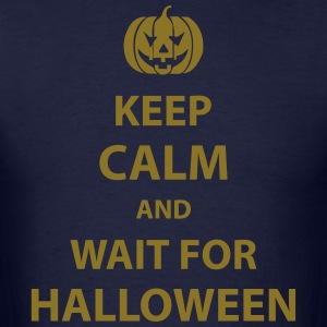 keep calm and wait for halloween Hoodies - Men's T-Shirt
