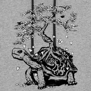 Turtle with a bonsai on the carapace T-Shirts - Colorblock Hoodie