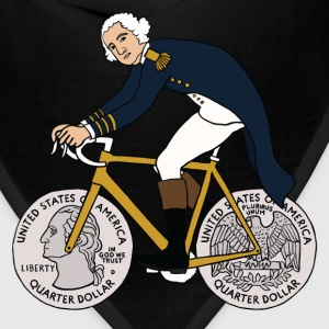 george washington on bike with quarter wheels Kids' Shirts - Bandana