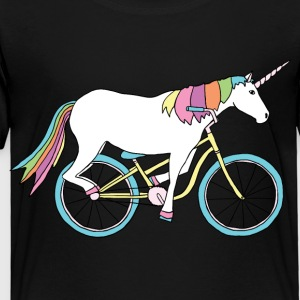 unicorn riding bike Kids' Shirts - Toddler Premium T-Shirt