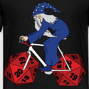 wizard riding bike with 20 sided dice wheels Kids' Shirts - Toddler Premium T-Shirt