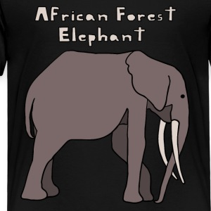 african forest elephant Kids' Shirts - Toddler Premium T-Shirt