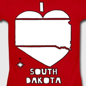 i heart South Dakota (red) Kids' Shirts - Short Sleeve Baby Bodysuit