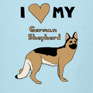 i heart my german shepherd Baby & Toddler Shirts - Men's T-Shirt