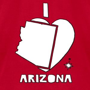 i heart Arizona (white) Baby & Toddler Shirts - Men's T-Shirt by American Apparel
