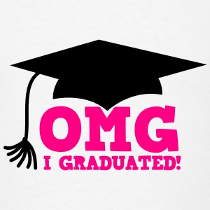 OMG I GRADUATED! with mortar board hat Tanks - Men's T-Shirt