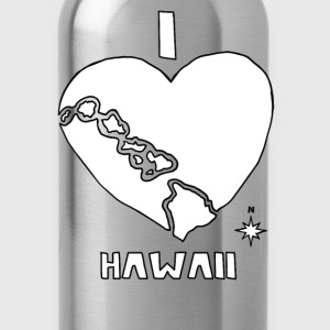 i heart Hawaii (white) Baby & Toddler Shirts - Water Bottle