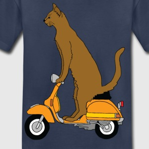 cat on motor scooter Kids' Shirts - Toddler Premium T-Shirt