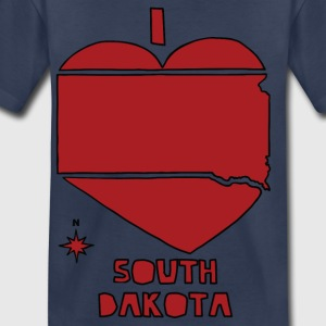 i heart South Dakota (red) Kids' Shirts - Toddler Premium T-Shirt