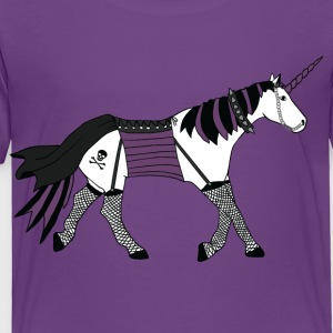 goth unicorn Kids' Shirts - Toddler Premium T-Shirt
