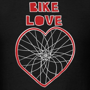 bike love red rim white spokes Hoodies - Men's T-Shirt