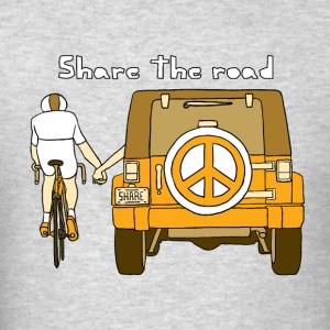 share the road Hoodies - Men's T-Shirt