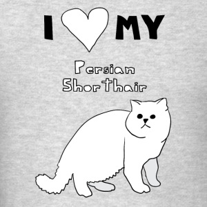 i heart my persian shorthair Hoodies - Men's T-Shirt