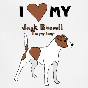 i heart my jack russell terrier Hoodies - Adjustable Apron