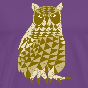 triangle owl (yellow) Hoodies - Men's Premium T-Shirt