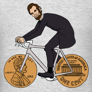 abe lincoln riding bike with penny wheels Tanks - Men's T-Shirt