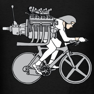 cyclist motoring Tanks - Men's T-Shirt