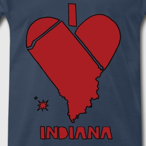 i heart Indiana (red) Tanks - Men's Premium T-Shirt