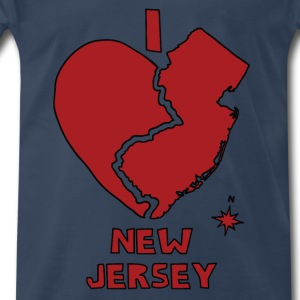 i heart New Jersey (red) Tanks - Men's Premium T-Shirt