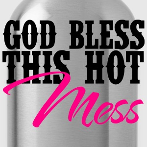 Country Thang-God Bless This Hot Mess Women's T-Shirts - Water Bottle