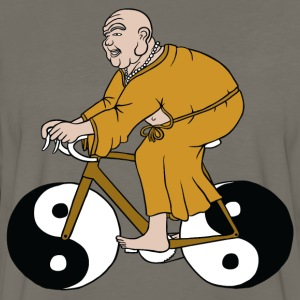 buddha riding bike with yin yang wheels Women's T-Shirts - Men's Premium Long Sleeve T-Shirt