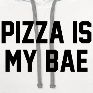 Pizza is my bae Women's T-Shirts - Contrast Hoodie