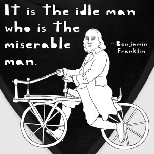 ben franklin cycling quote Hoodies - Bandana