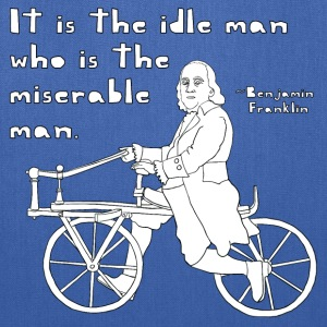 ben franklin cycling quote Hoodies - Tote Bag