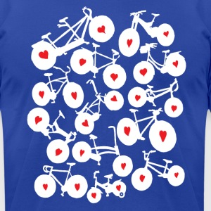 i heart all bikes Hoodies - Men's T-Shirt by American Apparel