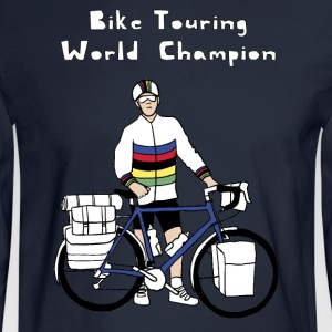 Bike Touring World Champion Hoodies - Men's Long Sleeve T-Shirt
