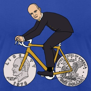 dwight eisenhower riding bike with dime wheels Hoodies - Men's T-Shirt by American Apparel