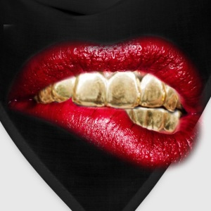 sexy lips gold tooth - Bandana