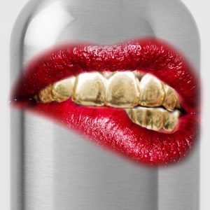sexy lips gold tooth - Water Bottle