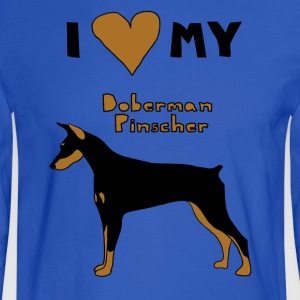 i heart my doberman pinscher Hoodies - Men's Long Sleeve T-Shirt