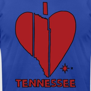 i heart Tennessee (red) Hoodies - Men's T-Shirt by American Apparel