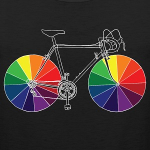 bike with color wheels T-Shirts - Men's Premium Tank