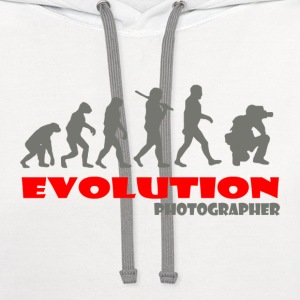 Photographer ape of Evolution - Contrast Hoodie