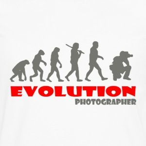 Photographer ape of Evolution - Men's Premium Long Sleeve T-Shirt