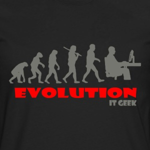 IT geek ape of Evolution - Men's Premium Long Sleeve T-Shirt