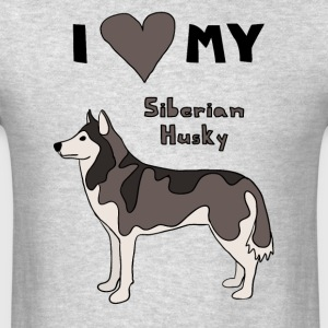i heart my siberian husky Men - Men's T-Shirt
