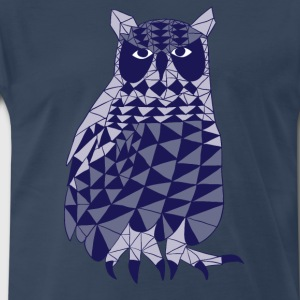 triangle owl (blue) Men - Men's Premium T-Shirt