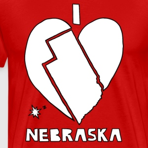 i heart Nevada (white) Men - Men's Premium T-Shirt