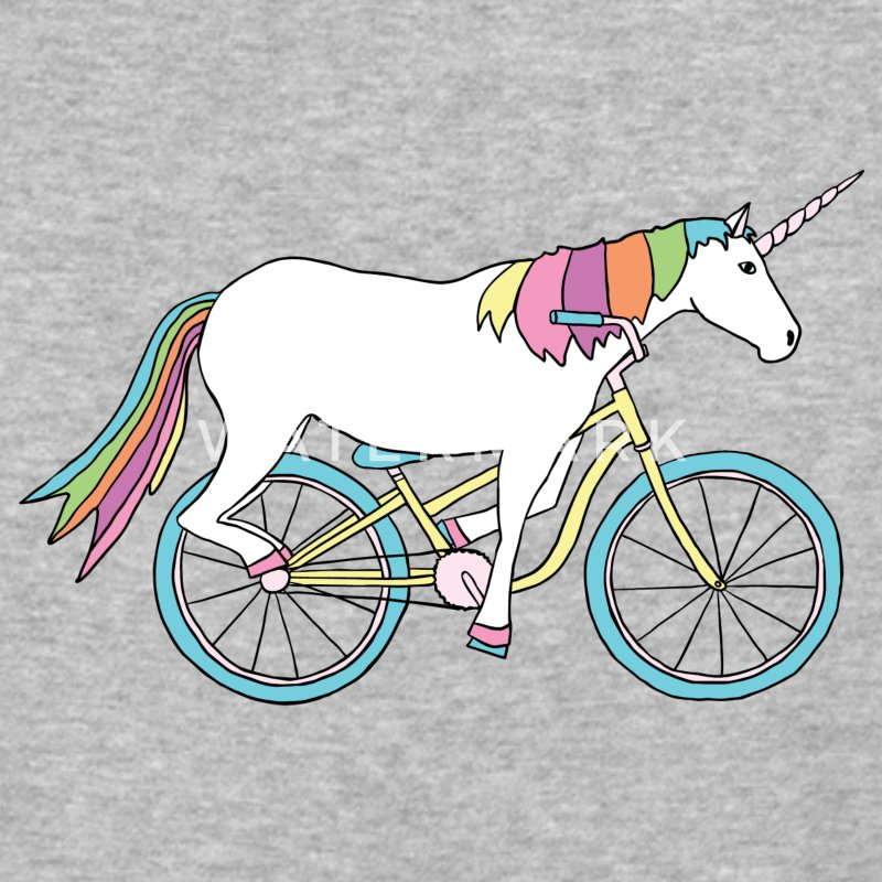 unicorn riding bike T-Shirts - Baseball T-Shirt