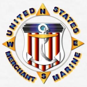 Emblem - US Merchant Marine  - Men's T-Shirt