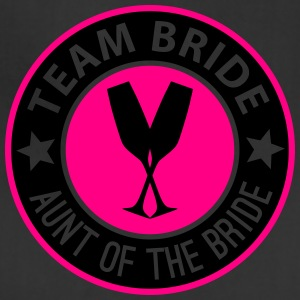 Team Bride Badge - Aunt Of The Bride Women's T-Shirts - Adjustable Apron