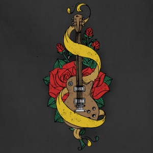 old school guitar and rose - Adjustable Apron