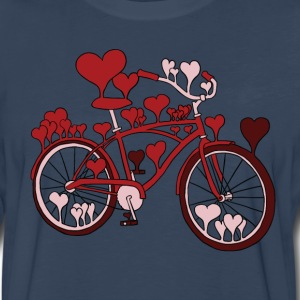 hearts on bike T-Shirts - Men's Premium Long Sleeve T-Shirt