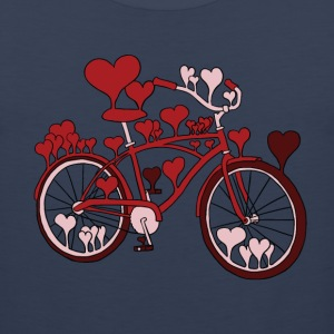hearts on bike T-Shirts - Men's Premium Tank